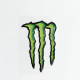 Adesivo graffio Monster 3D grande cm 17x11