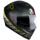Casco Integrale AGV K5 S '17 TOP THORN 46 matt black | white | yellow