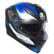Casco Integrale AGV K5 S '18 MULTI MARBLE MATT BLACK | WHITE | BLUE
