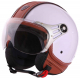 Casco Jet DIEFFE LUXURY chic bianco | pelle marrone