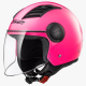 Casco Jet LS2 OF562 AIRFLOW gloss pink long