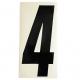 """Adesivo numerico cross nero cm. 15 """"4"""" - 1pz"""
