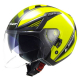 Casco Jet LS2 OF586 ATOM black | high vision yellow