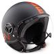 Casco Jet MOMODESIGN helmet nero fr | arancio fluo