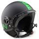 Casco Jet MOMODESIGN helmet nero fr | verde fluo