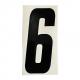 """Adesivo numerico cross nero cm. 15 """"6"""" - 1pz"""