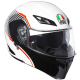 Casco Modulare AGV COMPACT ST VERMONT WHITE | BLACK | RED