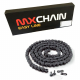 Catena di trasmissione MX Chains 520 cross economica senza O-Ring 120 maglie nera