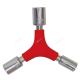 Chiave a bussola multipla ad Y 8 / 10 / 12 mm zincato