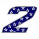 """Adesivo numerico Racing Stars """"2"""""""