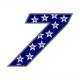 """Adesivo numerico Racing Stars """"7"""""""