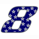 """Adesivo numerico Racing Stars """"8"""""""