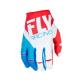 Guanti cross | enduro FLY RACING Kinetic rosso - bianco - blu
