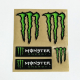 Adesivi Monster graffio (kit 5 pz.) tab. medio cm 13x15