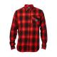 Camicia FOX Voyd Flannel nero | rosso
