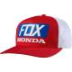 Cappello FOX HONDA Snapback hat rosso / bianco