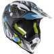 Casco Cross | Enduro AGV AX8 EVO MULTI NOFOOT white | cyan