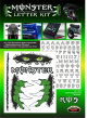 Adesivi Monster Letter tabella + graffi